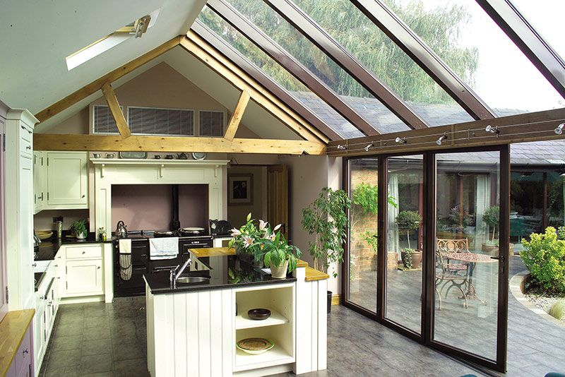 Lean To Conservatories Modern Gl Extensions Apropos