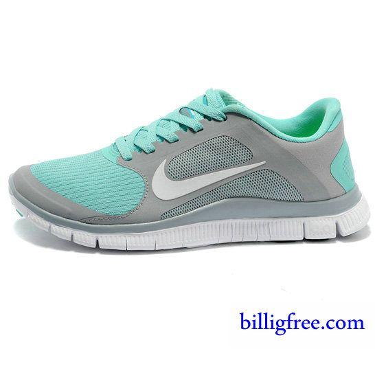 Billig Schuhe Damen Nike Free 4.0 V3 (Farbe:Vamp grau,innen