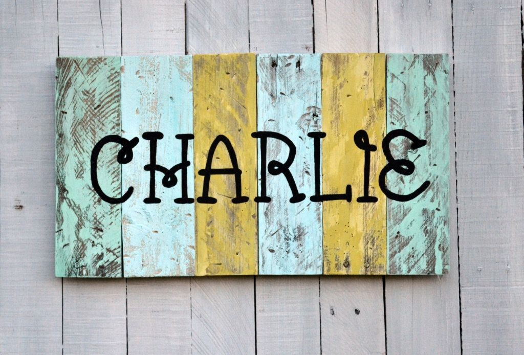 Personalized Name Sign, Nursery, Hand Painted ,Custom, Vintage ...