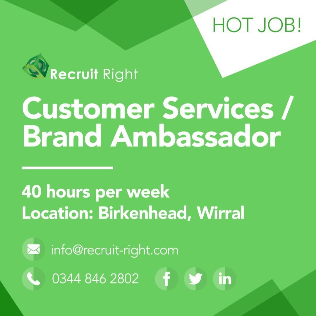 Hot Job Alert Customer Service Brand Ambassador S Need Free Parking Temp To Perm Opportunities Discounted Gym Membership Health Insuranc Brand Ambassador