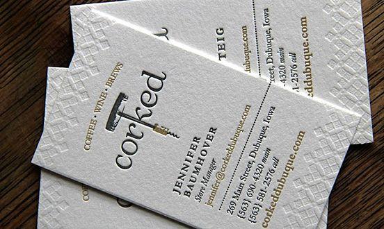 Tarjeta de visita Personal Cards \/ Tarjetas personales - letterpress business card