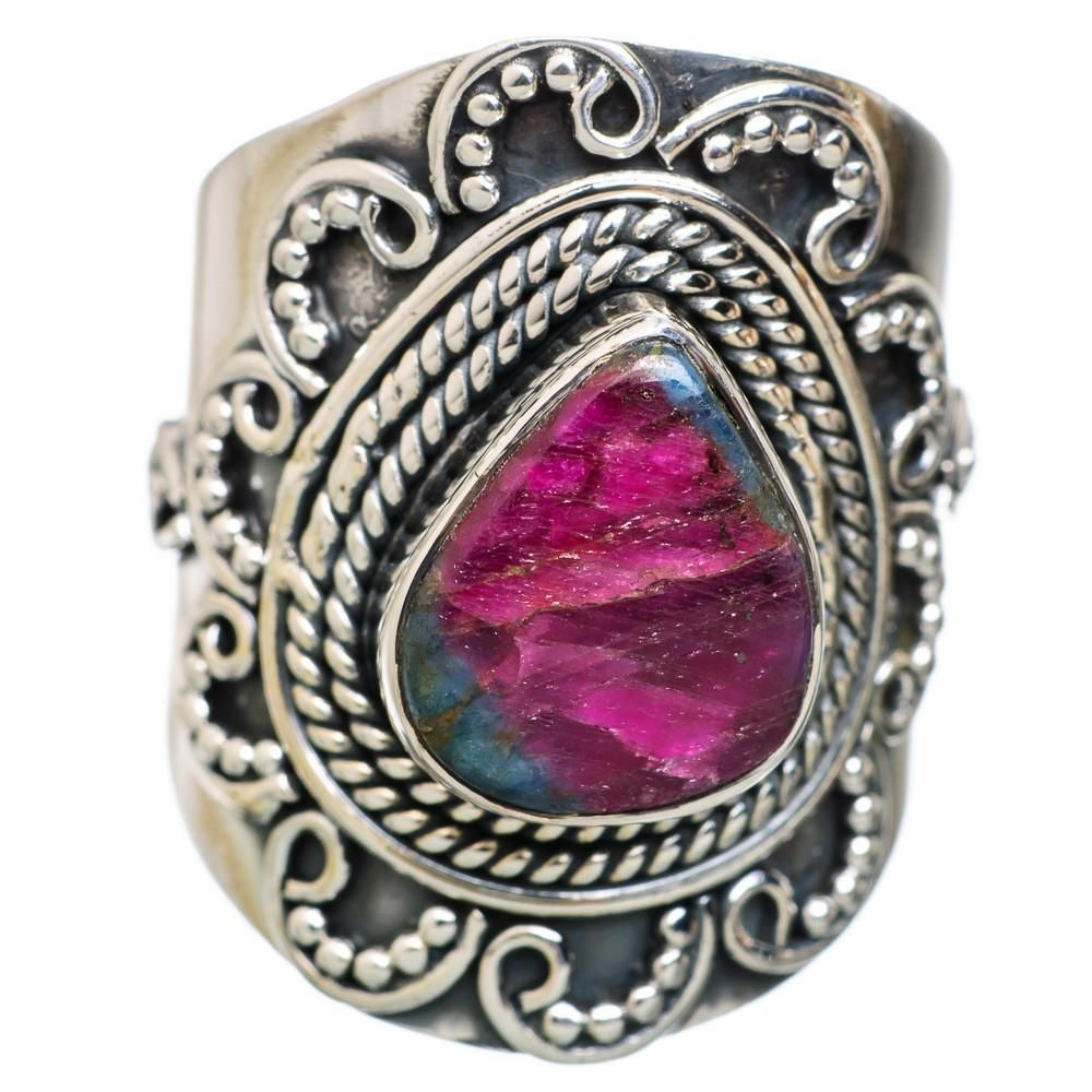 Ana Silver Co Ruby Fuchsite 925 Sterling Silver Ring Size 5.75 RING822055