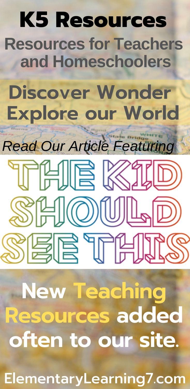 RESOURCE: The Kid Should See This (TKSST) | K5 Teaching ...