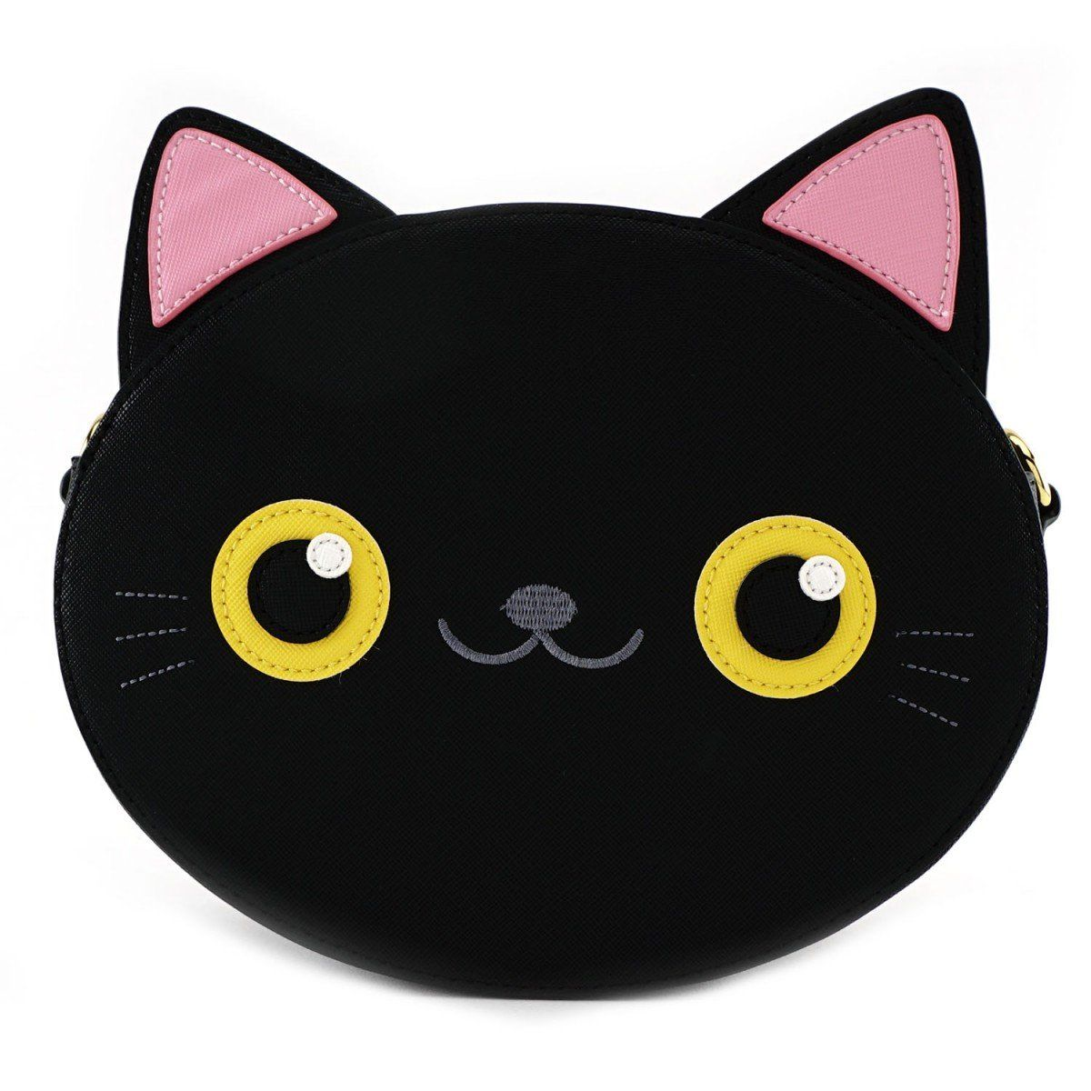 Photo of Loungefly Black Cat Face Crossbody Purse Bag Tote