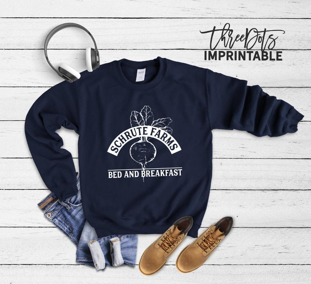 Predownload: Schrute Farms Sweatshirt Dwight Schrute Shirt The Office Etsy Dwight Schrute Shirt Club Sweatshirts Sweatshirt Designs [ 913 x 1000 Pixel ]