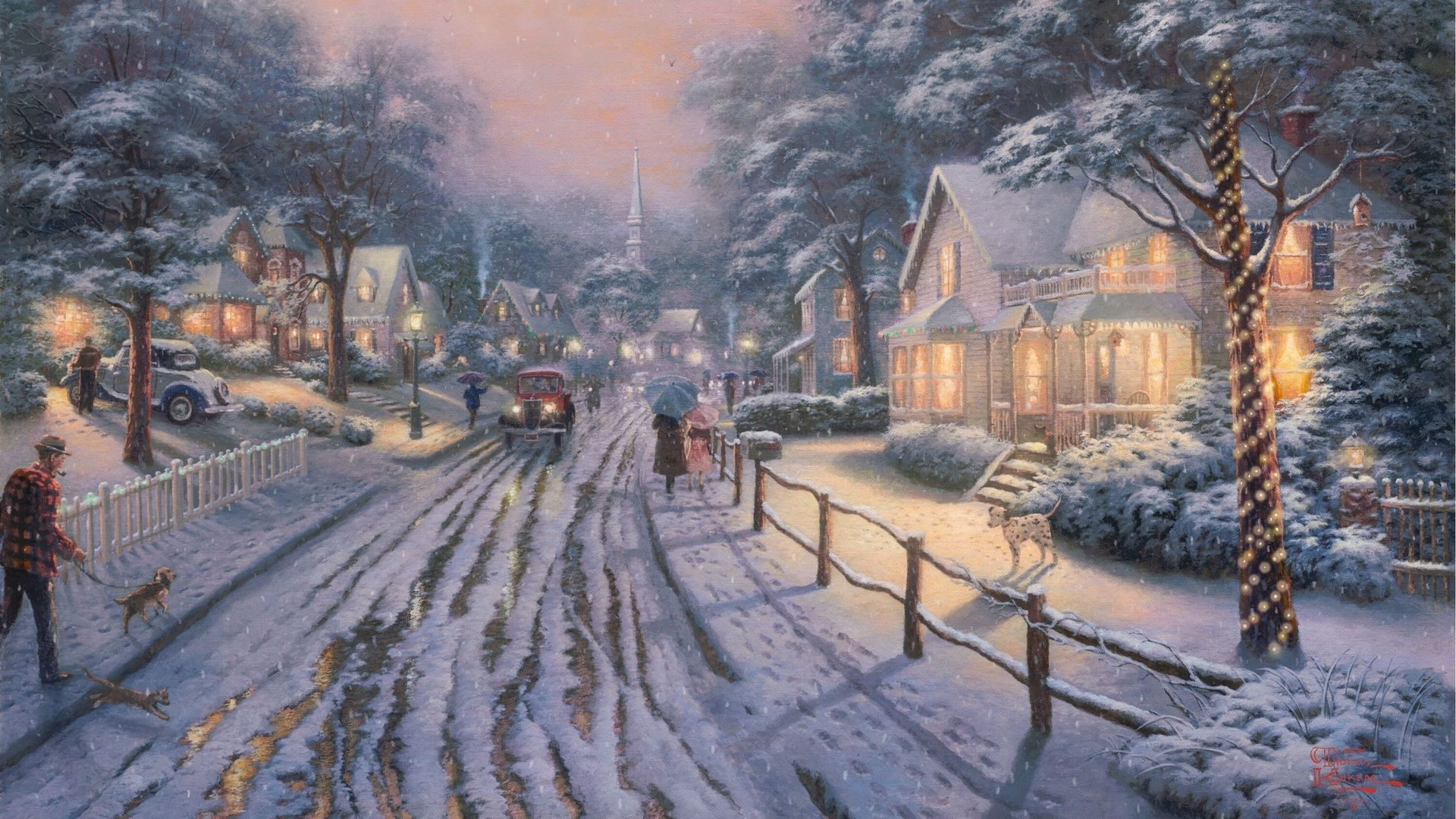 thomas kinkade cottage wallpaper | Free Thomas Kinkade Winter Cottage Wallpaper 81797 Download .