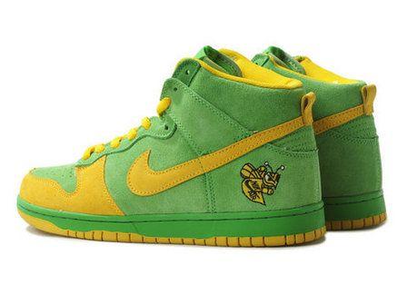 super popular 075cc 787b2 Nike Dunk High Lucky Bee Mickeys Malt Liquor Yellow Green