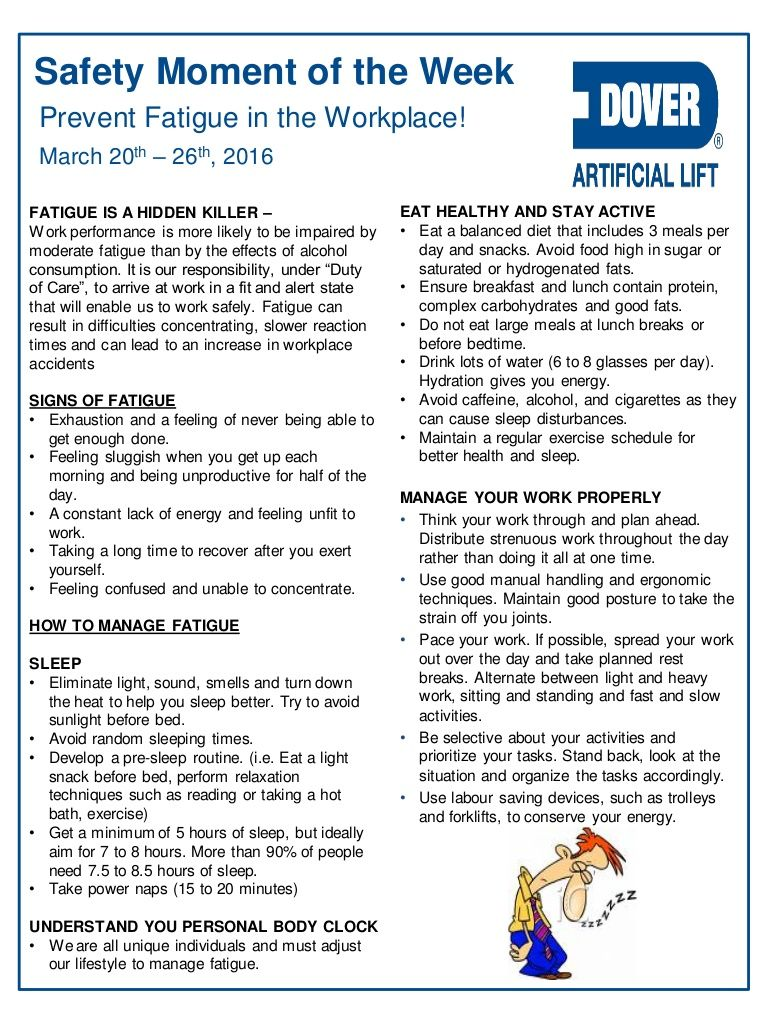 Dover ALS Safety Moment of the Week 21Mar2016