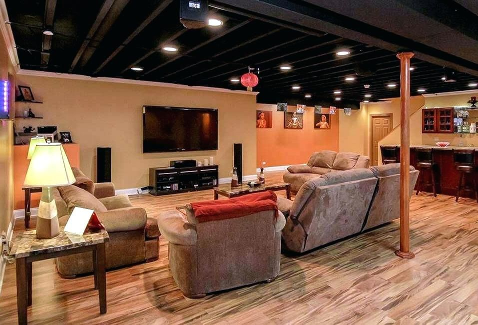 Painted Ceilings In Basement Inspiration Gallery From Exposed