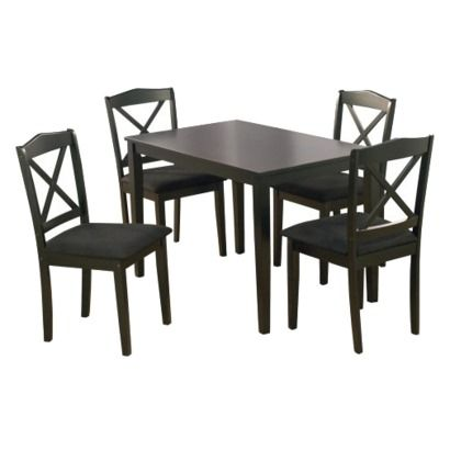 5 Piece Mason Crossback Dining Set   Black Rating: 3.5 Out Of 5 Stars 4