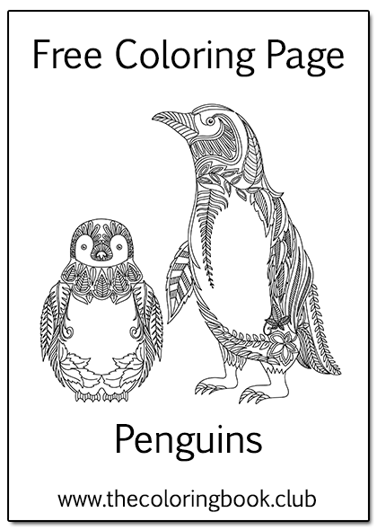 Free Penguins Coloring Page Penguin Coloring Pages Penguin Coloring Coloring Pages