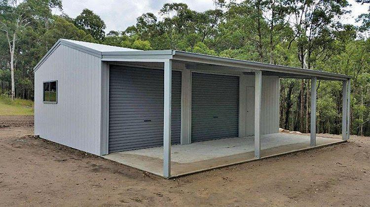 Garage with leanto 6m x 9m x 2.7m with 4m leanto Genuine