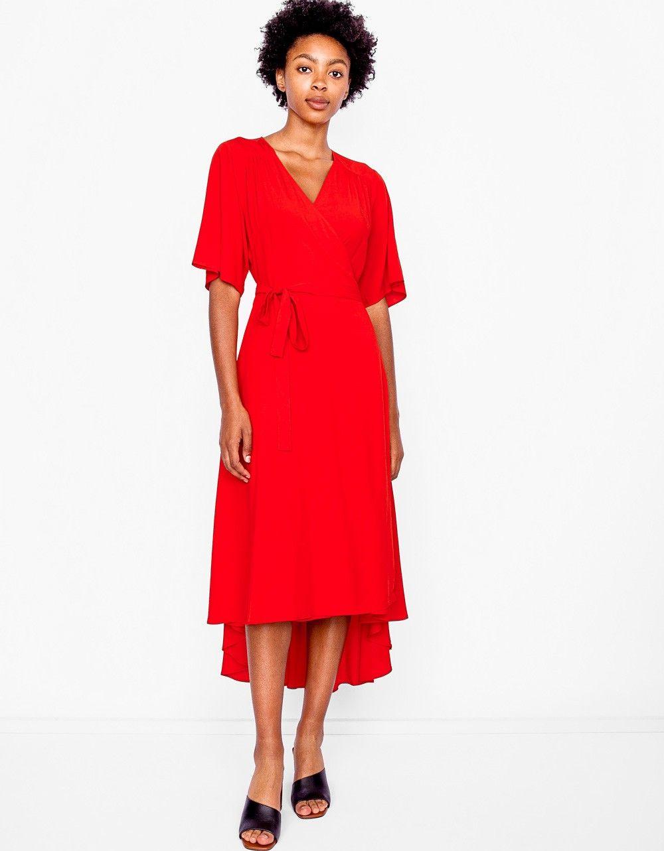 Tan Wrap Dress By Just Female 125 Wrap Dress Dresses Fashion [ 1283 x 1000 Pixel ]