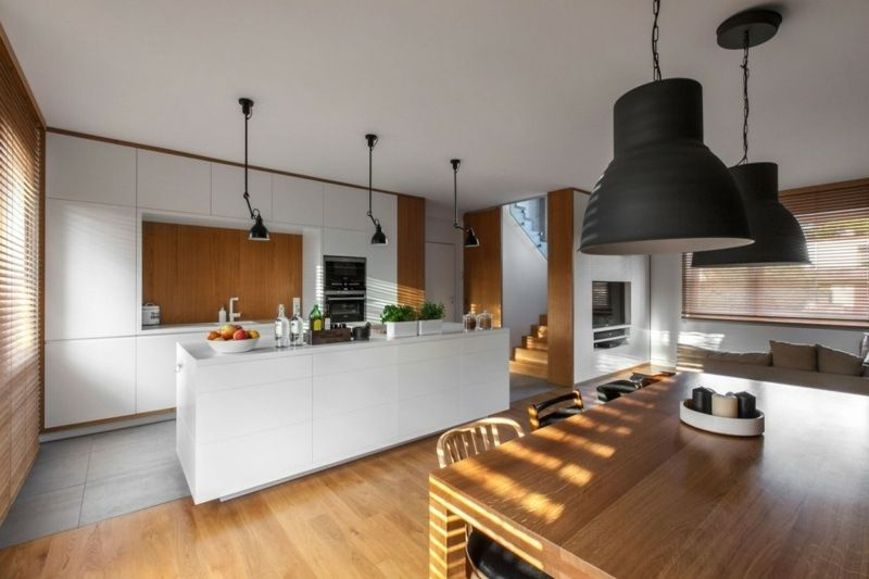 Cuisine bois et blanc dans un appartement en 25 idées super ...
