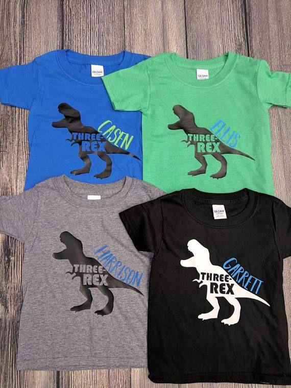 Boys Dinosaur Birthday Shirt So Cute Etsy