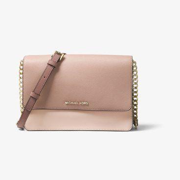 be06b1d1a12f Daniela Large Color-Block Saffiano Leather Crossbody by MICHAEL Michael Kors.  Sleek Sharp And