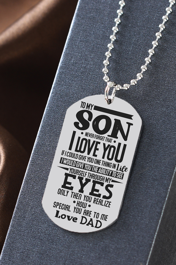 To My Son Special You Are To Me Love Dad Dog Tag Necklace Birthday