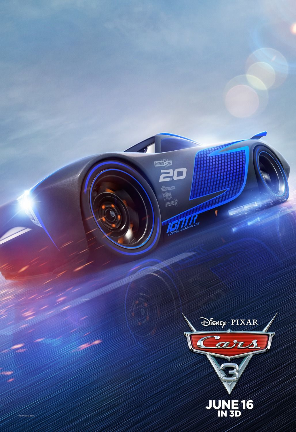Extra Large Movie Poster Image for Cars 3 (12 of 12