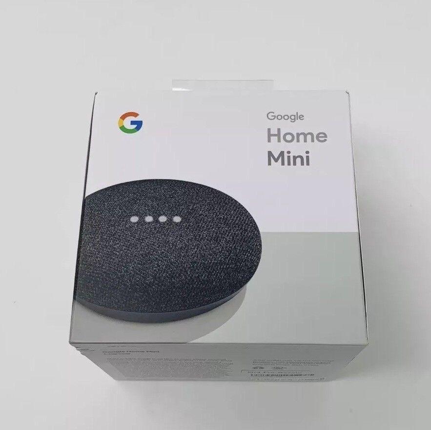 Google Home Mini Smart Speaker With Google Assistant Charcoal Brand New Google Google Home Mini Google Home Ebay Finds