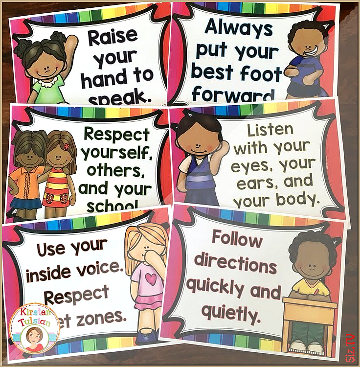 Behavior Chart and Classroom Rules Bright Rainbow Theme Behavior Chart and Classroom Rules Bright