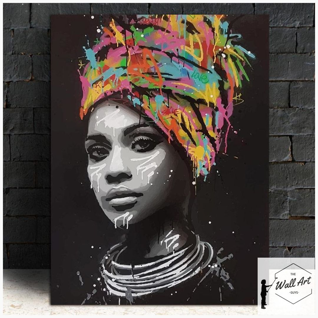 Canvas Poster Of A Beautiful Black Woman Portrait African Art African American Art African American Art Women