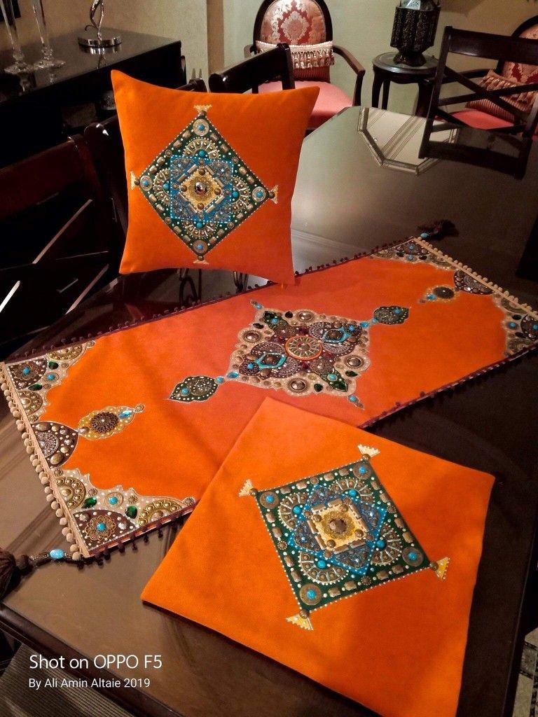 تشكيل خامات ومعادن على القماش Ramadan Crafts Cushion Cover Designs Ramadan Decorations