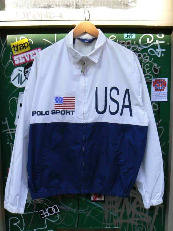 ff12c2beecc23 ZONE7STYLE: Vintage Ralph Lauren Polo Sport USA Flag Jacket | Keep a ...
