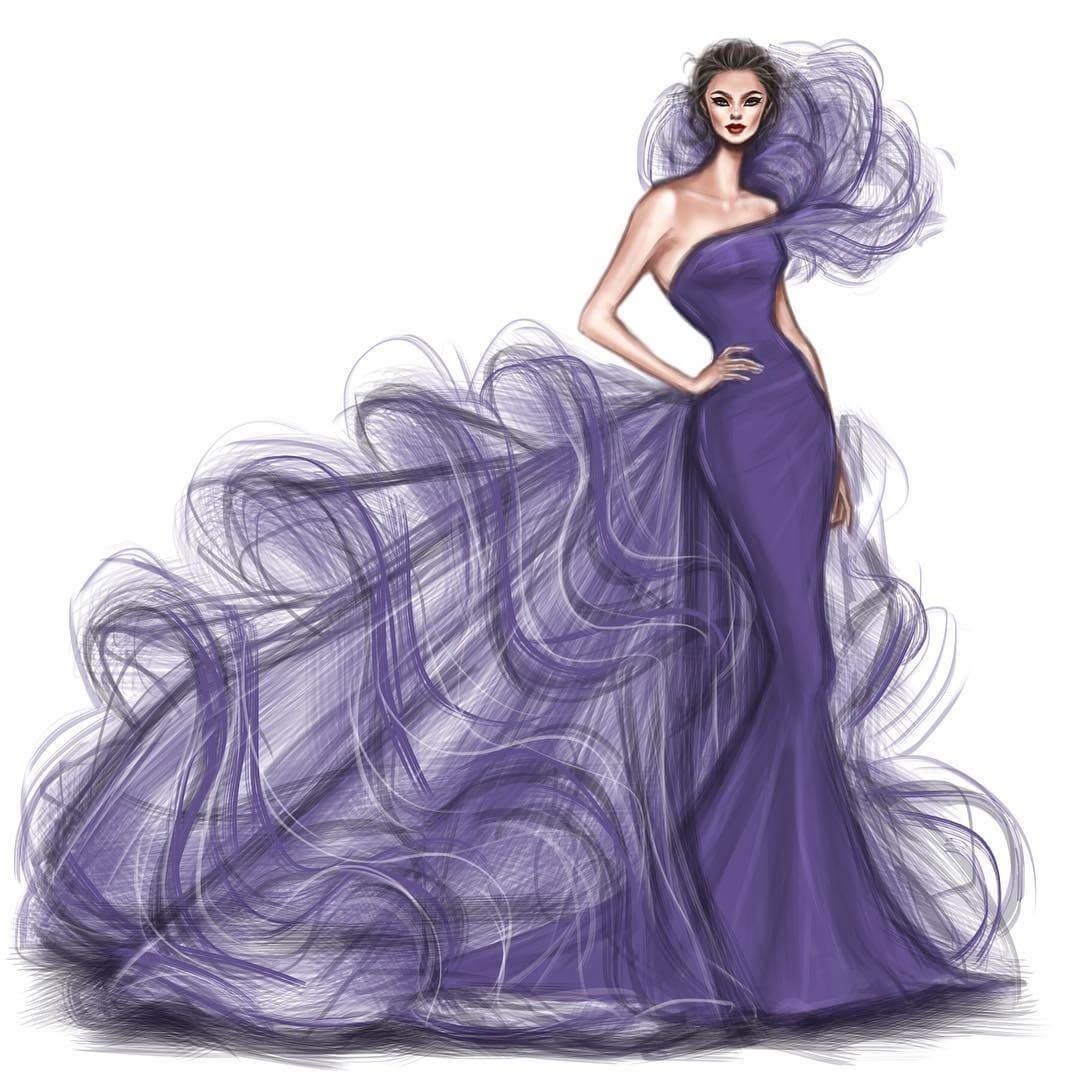 Haute Couture Exquisite Fashion Drawings