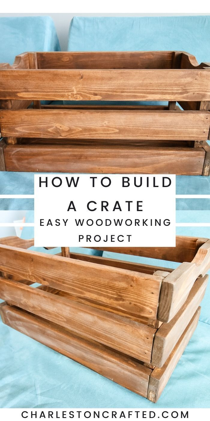 Photo of How to make a DIY wooden crate