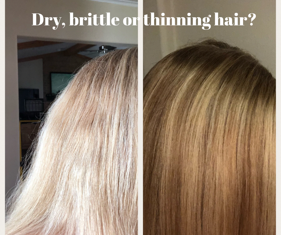 Secrets To Help Dry Brittle Or Thinning Hair Including Home Remedies For Hair Loss Brittle Hair Treatment Thin Dry Hair Hairstyles For Thin Hair