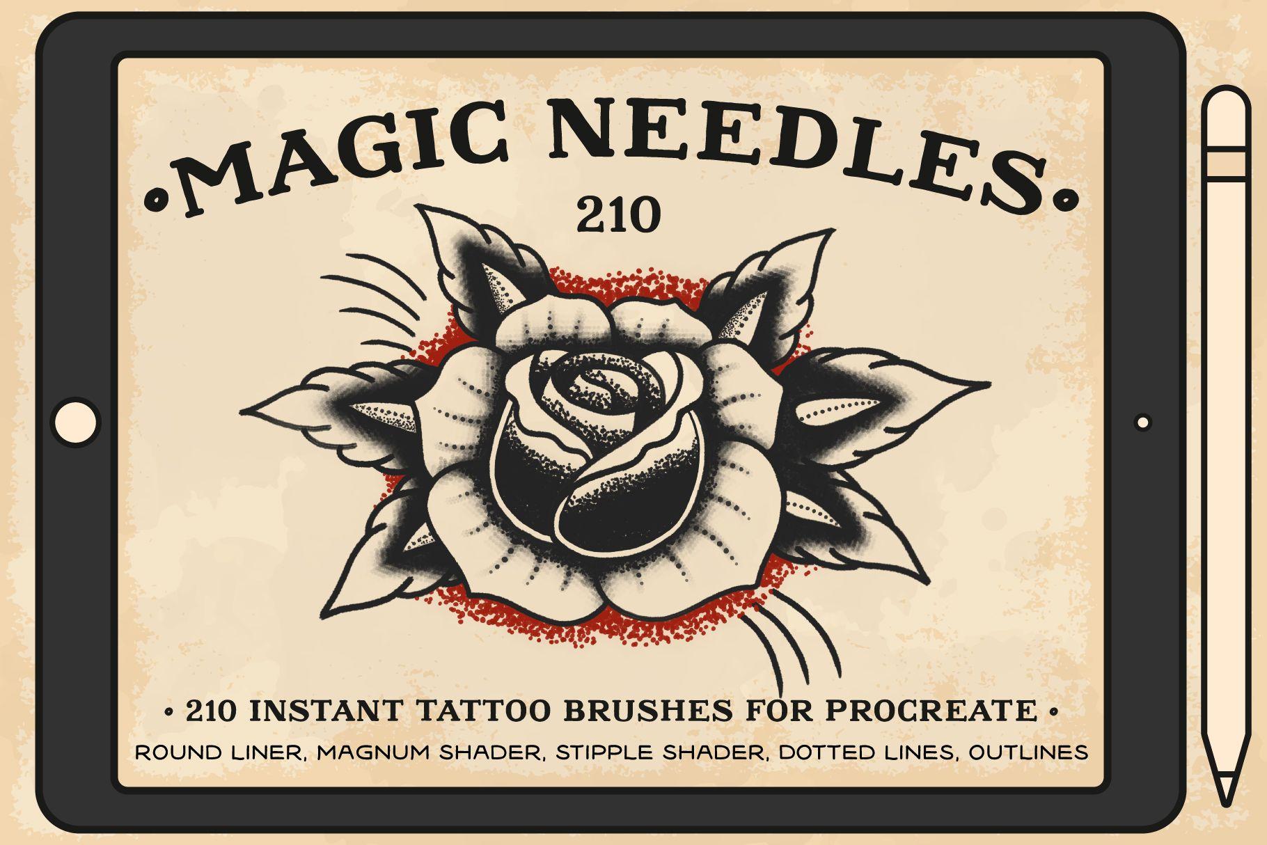 Instant tattoo brushes ps stippling brush tattoo