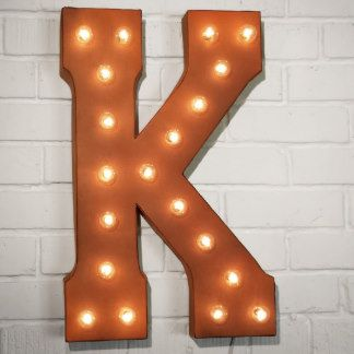 Custom 21 Rust Letter K Vintage Marquee Signs Zazzle Com Vintage Marquee Sign Vintage Marquee Vintage Marquee Letters