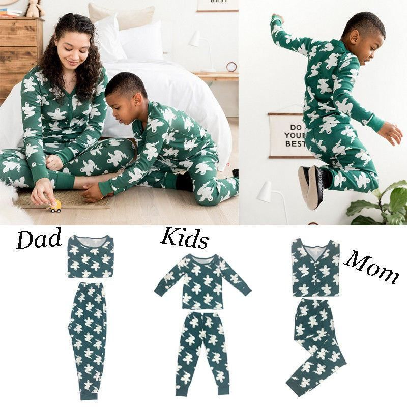 8bf669c4eb 2018 Brand Family Christmas Pajamas New Year Mother Daughter Outfits Family  Matching Clothes Sleepwear Pajama Set Family Look