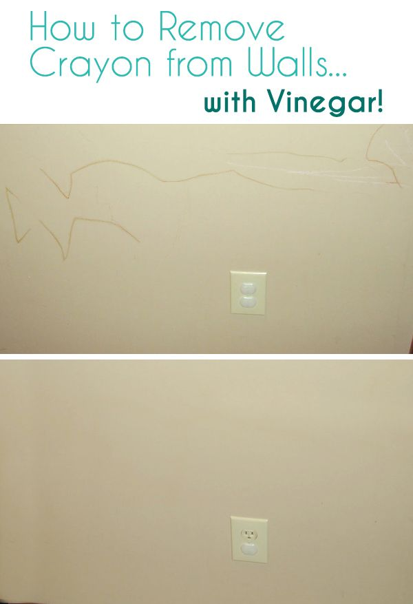 How To Remove Crayon From Walls With Vinegar Cleaning Painted
