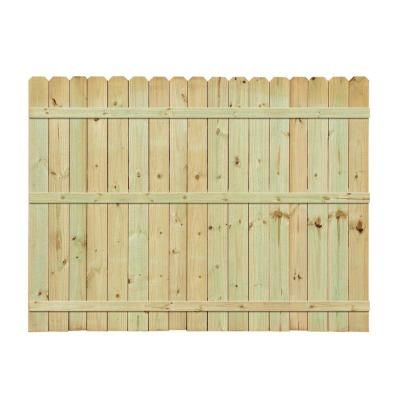 50b38264f1c 6 ft. x 8 ft. Pressure-Treated Pine Dog-Ear Fence Panel-158083 - The Home  Depot