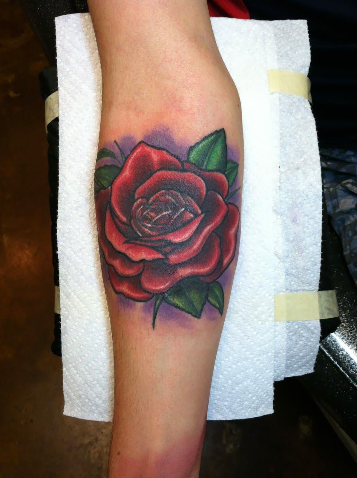 Rose Forearm Tattoo by David Meek Tattoos at Fast Lane Tattoo in ...