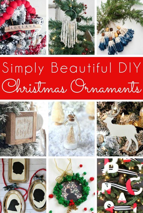 12 simply beautiful DIY Christmas ornaments Each