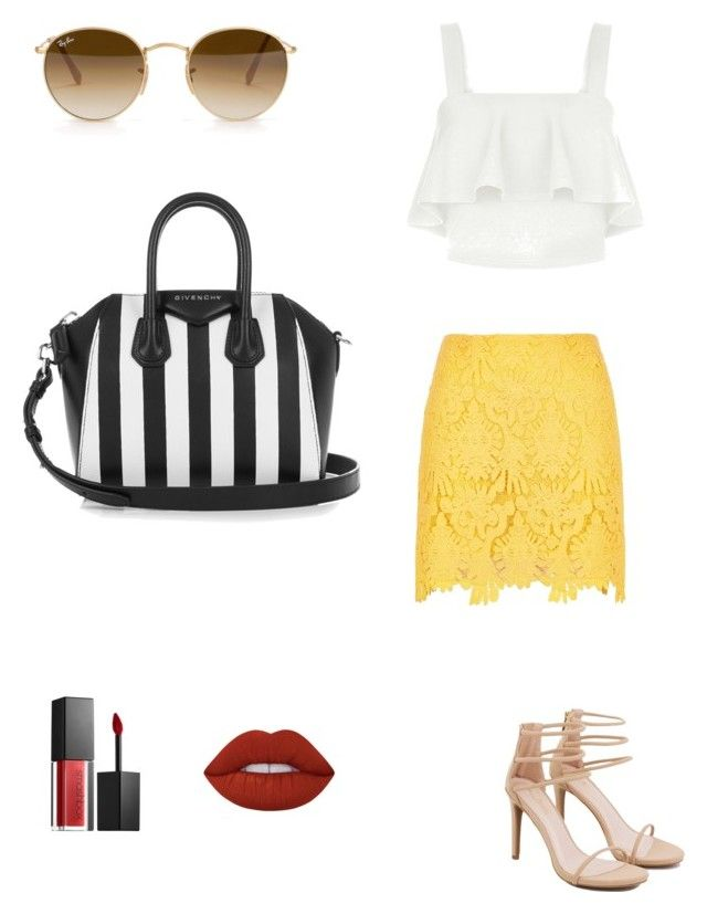 """""""✨"""" by cakiebite on Polyvore featuring Ray-Ban, Lime Crime, Smashbox, Givenchy, River Island, New Look and Akira"""