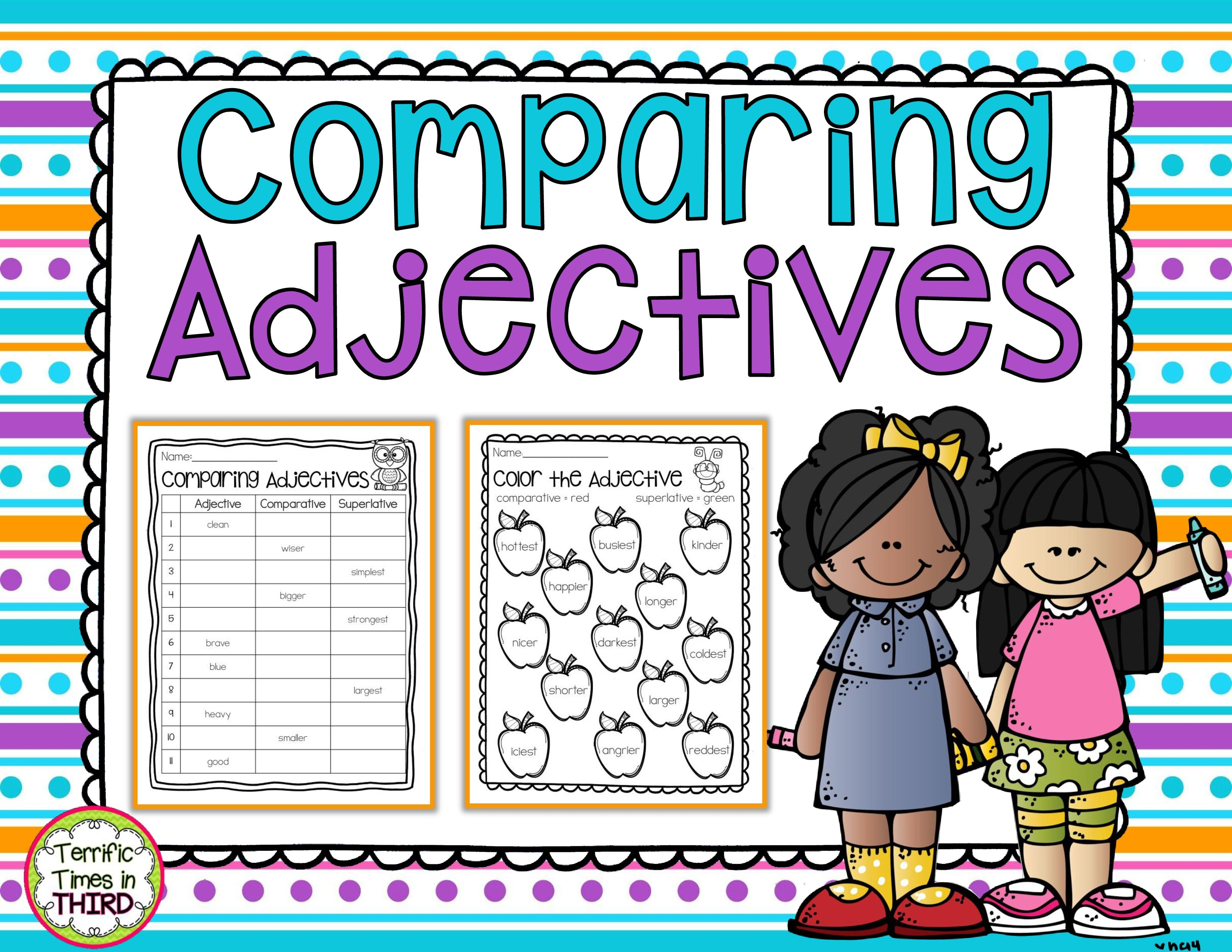 Comparing Adjectives Printables For Comparative And