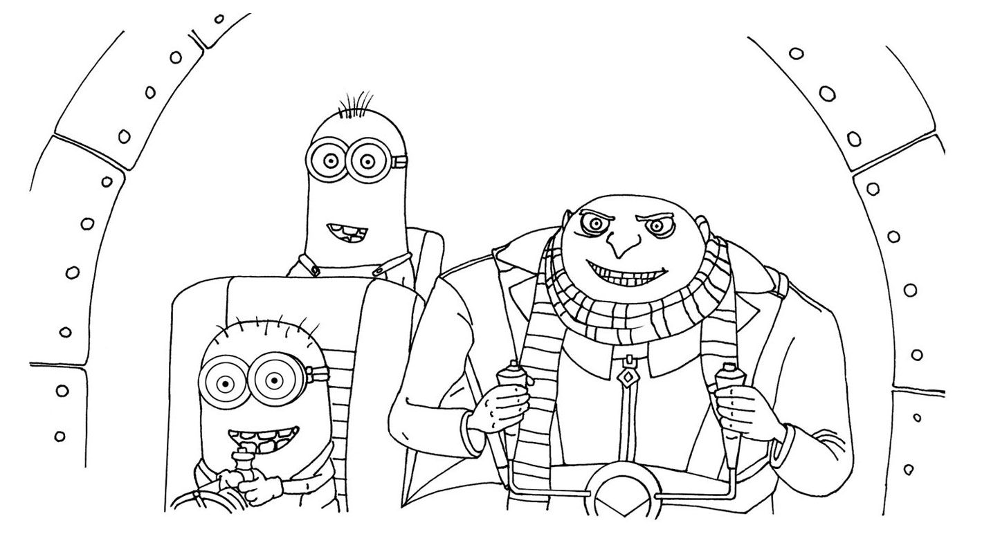 kids under 7 despicable me coloring pages party with