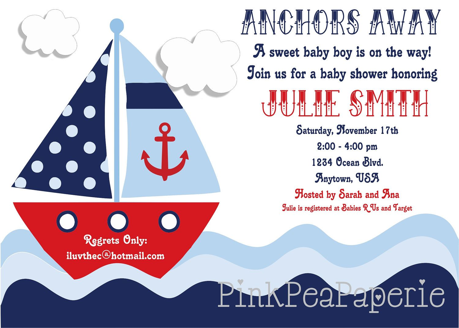 Nautical Baby Shower Invitations 5 HD Wallpapers   Printables ...
