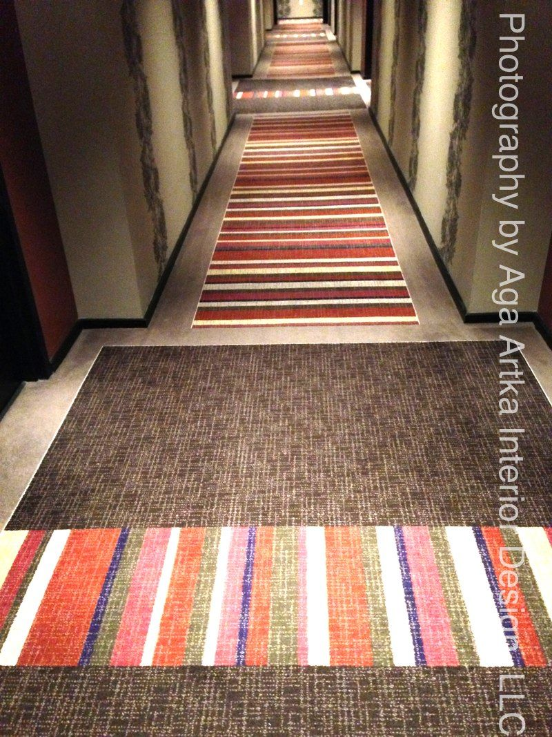 wallcovering and carpet detail in the corridors at the liberty