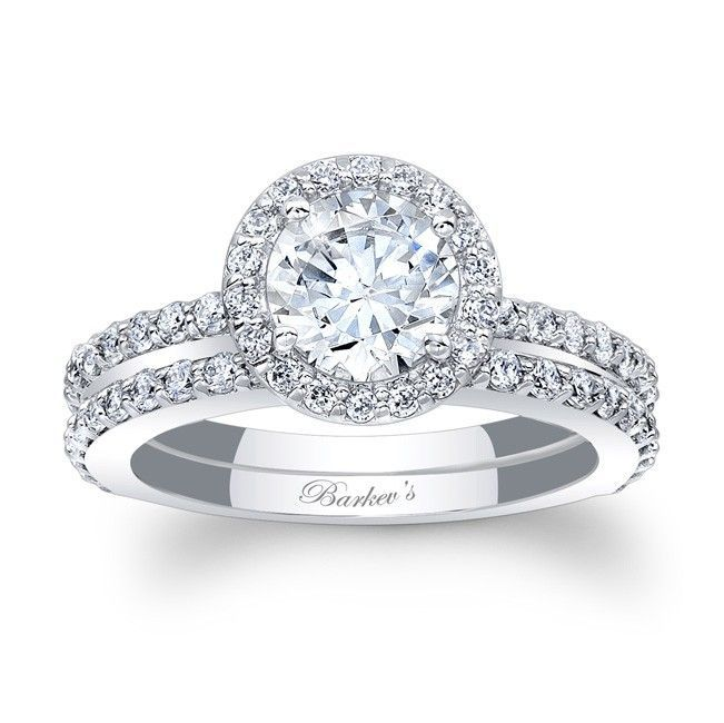 Halo Bridal Set Stunning In Vogue This White Gold Diamond Engagement Ring Will Capture The Eye Of Many Admirers
