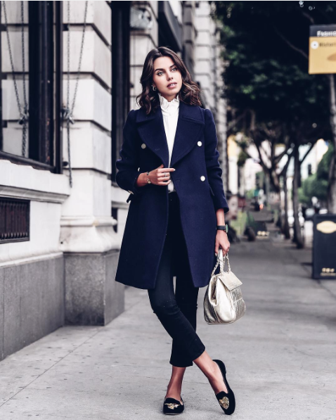 08c84e34e7dc15 Annabelle Fleur of VivaLuxury with the Tory Burch Half-Moon Metallic Small  Satchel and Peace Smoking Slippers