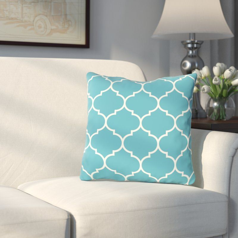 East Village Repeating Moroccan Outdoor Throw Pillow