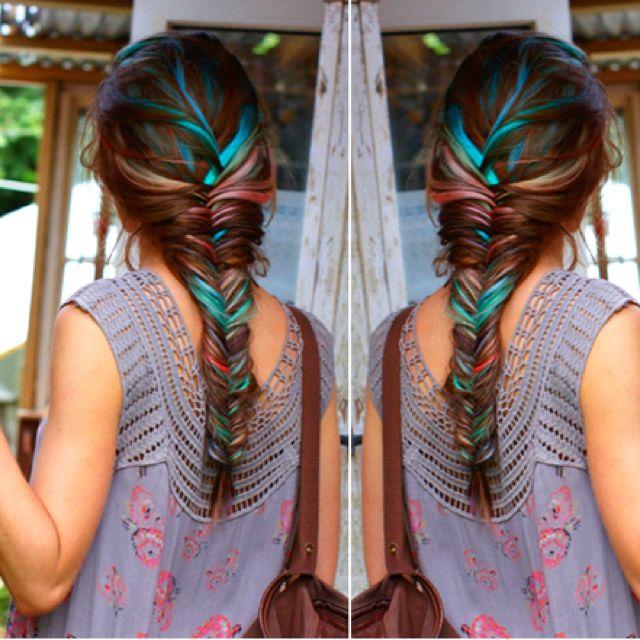 Rainbow fishtail.