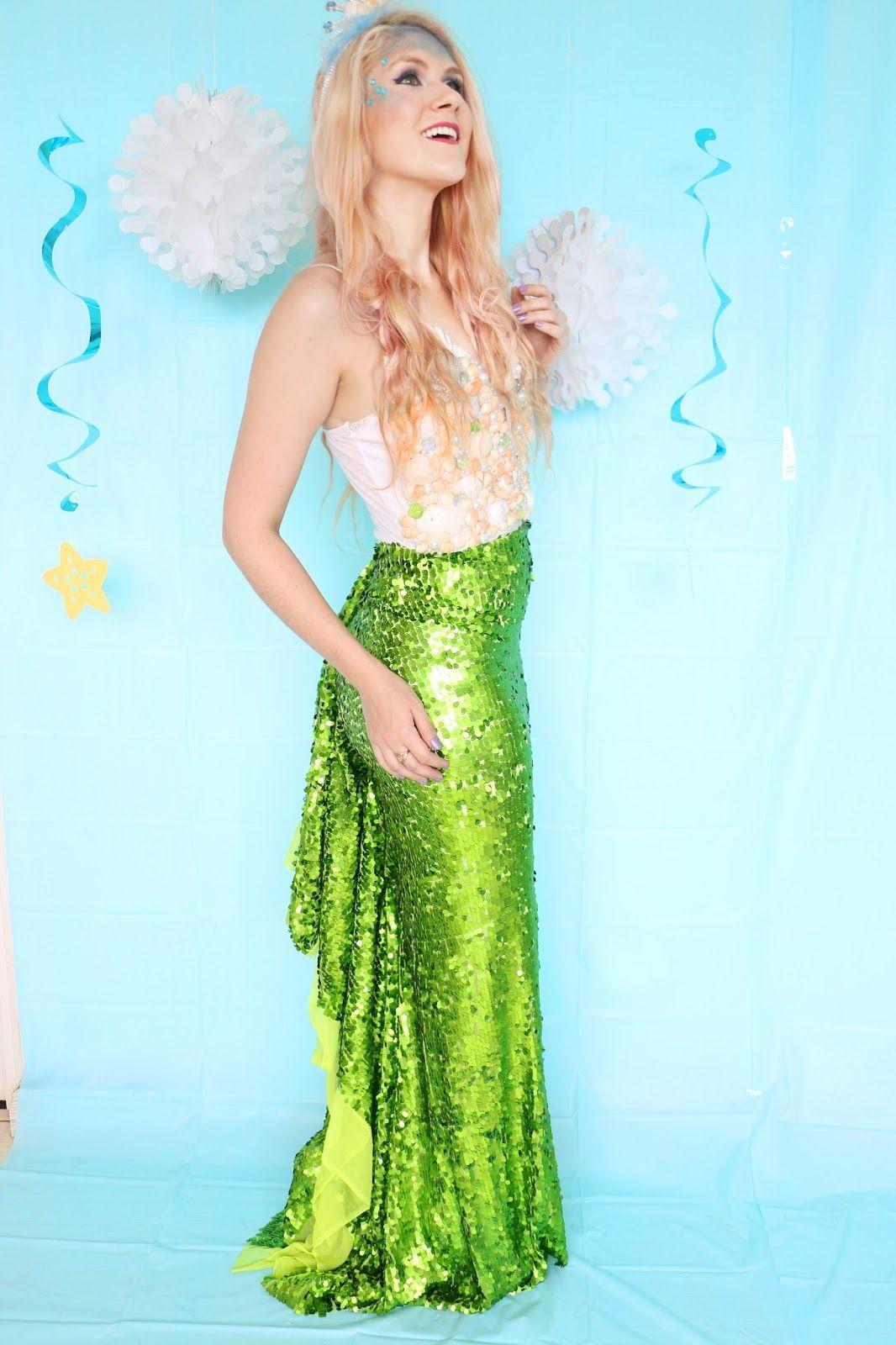 Pretty Homemade Mermaid Costume. Click through for tutorial & Pretty Homemade Mermaid Costume. Click through for tutorial ...