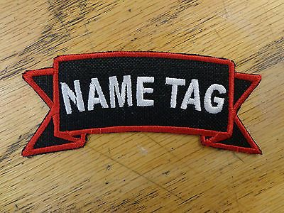 Custom Embroidered Name Tag Title Tag Patch Biker Outlaw Patch Vest Club MC