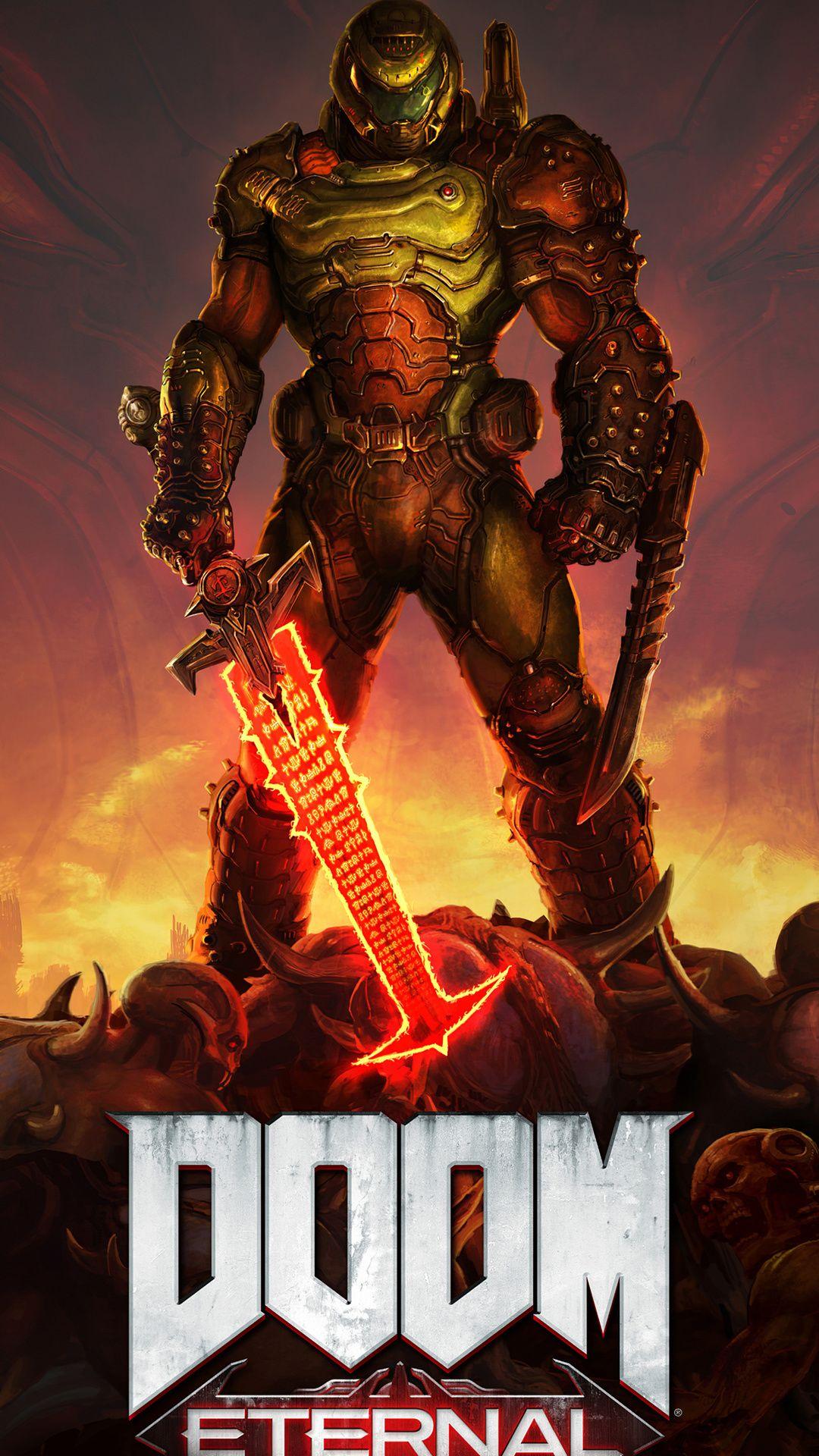 Doom Eternal 4k 2020 Mobile Wallpaper Iphone Android Samsung Pixel Xiaomi In 2020 Doom Videogame Doom Doom Game