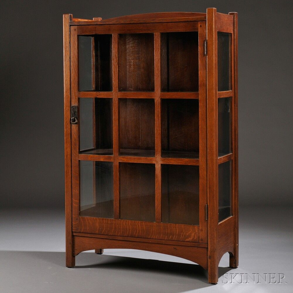 Arts Crafts China Cabinet Sale Number 2661b Lot Number 234 Skinner Auctioneers Cabinets For Sale Small China Cabinet China Cabinet